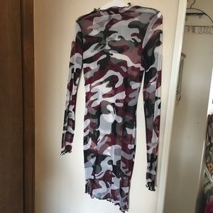 Camo sheer dress